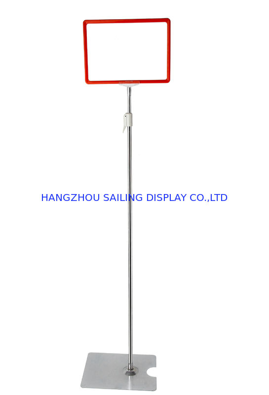 Custom Chrome-faced POS Sign Holder , POP Poster Display For Promotion Card dostawca