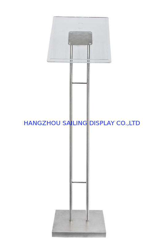 Floor Standing POP Poster Display Stand , 1100 - 1600mm Adjustable Height dostawca