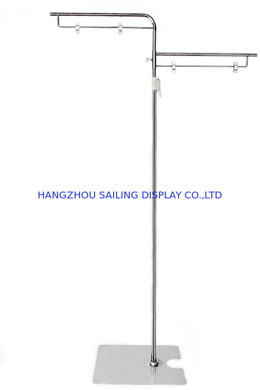 Retail Floor Poster Stands , Floor Standing Sign Holders 380mm Pole dostawca