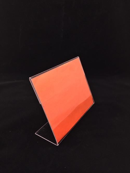 Clear Hanging Acrylic Sign Holder , Plexiglass Wall Mounted Sign Holder