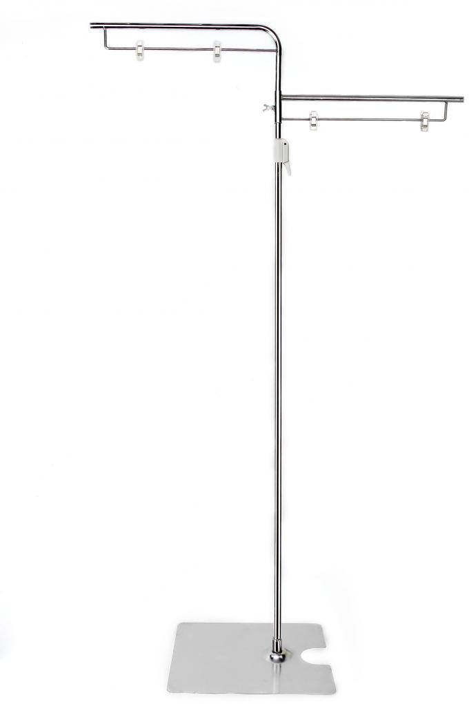Retail Floor Poster Stands , Floor Standing Sign Holders 380mm Pole